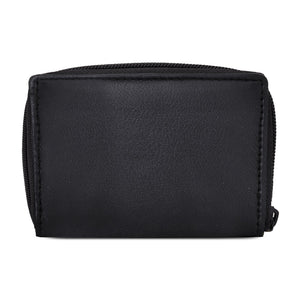 Leather Cards Holder Wallet Women Black