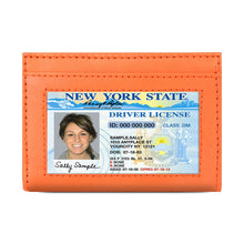 Load image into Gallery viewer, Leather Cards Holder Wallet Women Orange