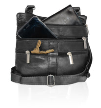 Load image into Gallery viewer, Soft, Thin, Light, Leather Mini Crossbody Purse - WholesaleLeatherSupplier.com  - 6