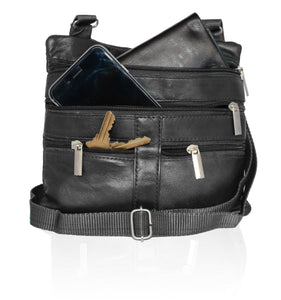 Soft, Thin, Light, Leather Mini Crossbody Purse - WholesaleLeatherSupplier.com  - 6