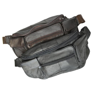 Unisex Leather Fanny Pack by AFONiE™