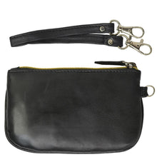 Load image into Gallery viewer, RFID Collection Premium Leather Mini Wristlet- Black Color