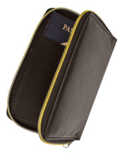 Load image into Gallery viewer, RFID Travel Zip Around Passport Cover-Brown Color