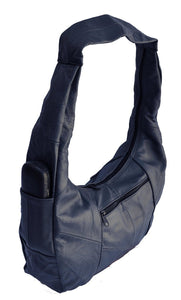 Large Top Zip Hobo Genuine Leather Rich Multi Color - WholesaleLeatherSupplier.com  - 16