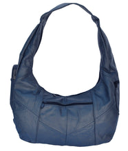 Load image into Gallery viewer, Large Top Zip Hobo Genuine Leather Rich Multi Color - WholesaleLeatherSupplier.com  - 6