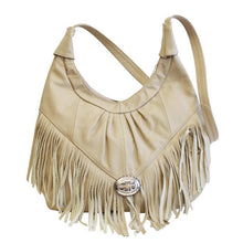 Load image into Gallery viewer, Fringe Hobo Bag - Soft Genuine Leather Multi Color - WholesaleLeatherSupplier.com  - 5