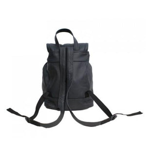 Genuine Leather Backpack with Convertible Strap Super Soft Black Color - WholesaleLeatherSupplier.com  - 3