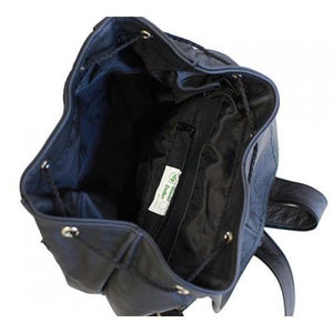Genuine Leather Backpack with Convertible Strap Super Soft Black Color - WholesaleLeatherSupplier.com  - 2