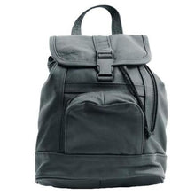 Load image into Gallery viewer, Genuine Leather Backpack with Convertible Strap Super Soft Black Color - WholesaleLeatherSupplier.com  - 8