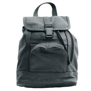Genuine Leather Backpack with Convertible Strap Super Soft Black Color - WholesaleLeatherSupplier.com  - 8