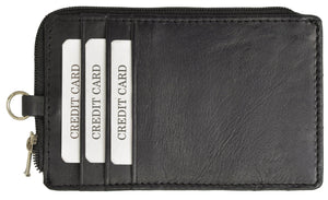 RFID Slim Leather Black Neck Wallet