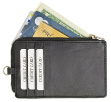 Load image into Gallery viewer, RFID Slim Leather Black Neck Wallet