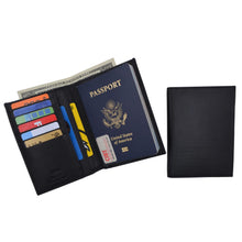 Load image into Gallery viewer, AFONiE RFID Blocking Leather Bifold Wallet/Passport Holder