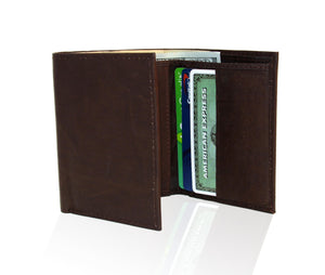 Genuine RFID-Blocking Best Genuine Leather Tri-fold Wallet For Men - Burgundy