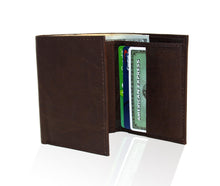 Load image into Gallery viewer, Genuine RFID-Blocking Best Genuine Leather Tri-fold Wallet For Men - Brown
