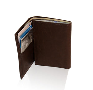 Genuine RFID-Blocking Best Genuine Leather Tri-fold Wallet For Men - Brown