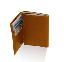 Load image into Gallery viewer, Genuine RFID-Blocking Best Genuine Leather Tri-fold Wallet For Men - Burgundy