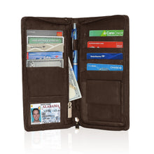 Load image into Gallery viewer, Genuine RFID-Blocking Men's Leather Bifold Wallet Organizer Checkbook Card Case - Brown