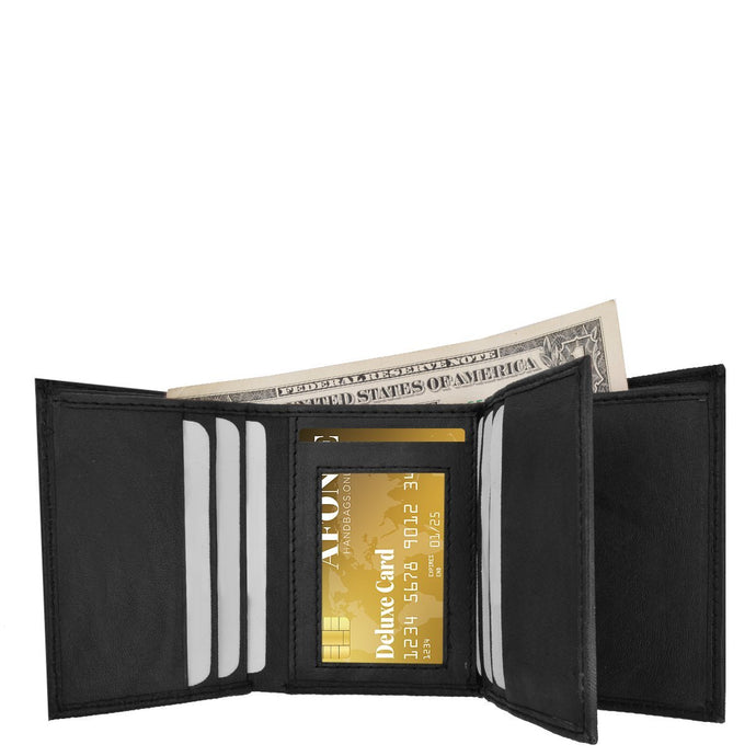 Tri-Fold Men Wallet Black