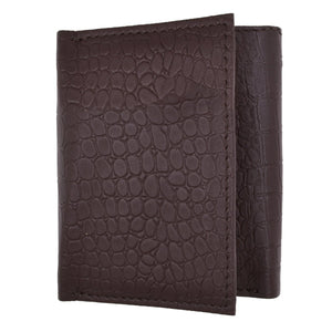 Tri-Fold Men Wallet Brown