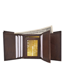 Load image into Gallery viewer, Tri-Fold Men Wallet Brown