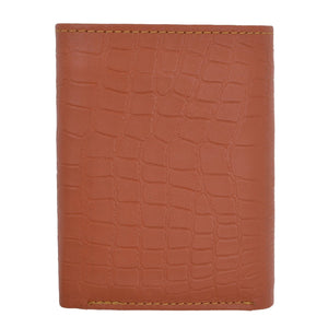Tri-Fold Men Wallet Tan