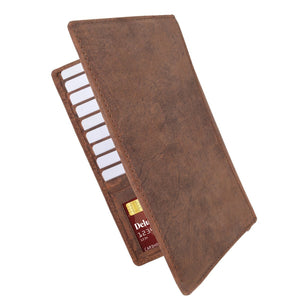 brown rfid men wallet