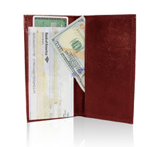 Load image into Gallery viewer, Deluxe RFID-Blocking Leather Check Book Holder - Brown
