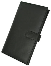 Load image into Gallery viewer, Deluxe RFID-Blocking Soft Leather Bifold with Button Closure - Black - WholesaleLeatherSupplier.com