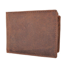 Load image into Gallery viewer, RFID Leather Bifold Wallet Men Brown