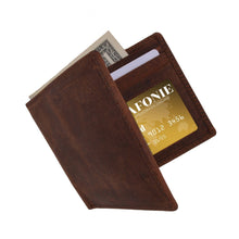 Load image into Gallery viewer, RFID Leather Bifold Wallet Brown