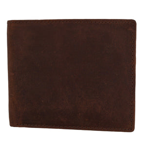 RFID Leather Bifold Wallet Brown