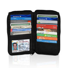 Load image into Gallery viewer, Deluxe RFID-Blocking Durable Genuine Leather Men's Credit Card Holder - Black - WholesaleLeatherSupplier.com  - 1