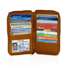Load image into Gallery viewer, Deluxe RFID-Blocking Durable Genuine Leather Men's Credit Card Holder - Tan - WholesaleLeatherSupplier.com  - 1