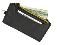 Load image into Gallery viewer, RFID Let It All Hand Leather Black Wallet
