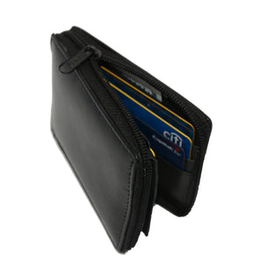 Deluxe RFID-Blocking Flip ID Zipped Soft Leather Bifold Wallet - Brown - WholesaleLeatherSupplier.com  - 7