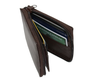Deluxe RFID-Blocking Flip ID Zipped Soft Leather Bifold Wallet - Black - WholesaleLeatherSupplier.com  - 7