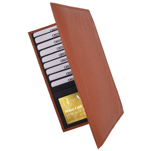 Credit Cards Holder Leather Tan