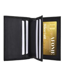 Load image into Gallery viewer, Leather RFID Wallet Men Black