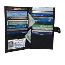 Load image into Gallery viewer, Deluxe RFID-Blocking Soft Leather Bifold with Button Closure - Brown