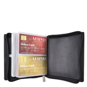 RFID Leather Card Holder Men Wallet Black