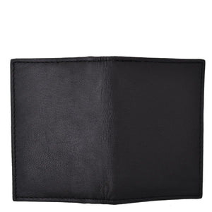 RFID Bifold Men Leather Wallet Black