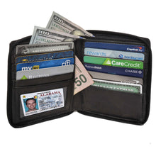 Load image into Gallery viewer, Deluxe RFID-Blocking Genuine Leather European Style Wallet - Black - WholesaleLeatherSupplier.com  - 1