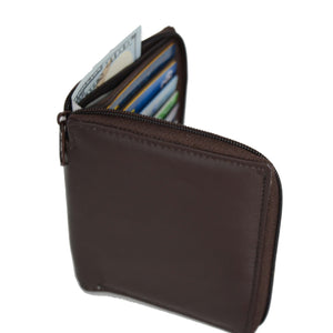 Deluxe RFID-Blocking Genuine Leather European Style Wallet - Brown