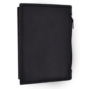 RFID Leather Wallet Men Bifold Credit Card Holder Black
