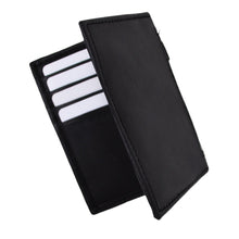 Load image into Gallery viewer, RFID Leather Wallet Men Bifold Credit Card Holder Black