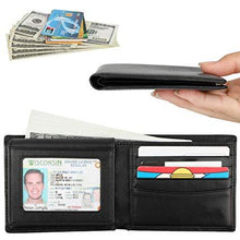 Load image into Gallery viewer, Deluxe RFID-Blocking Cowhide Leather Bifold Wallet