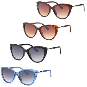 MisAmores - Butterfly Fashion Style Frame Sunglasses 4-Pack