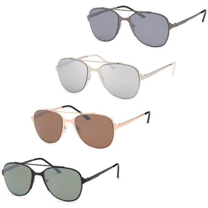 Modern Large Metal Style Frame Unisex Glasses 4-Pack