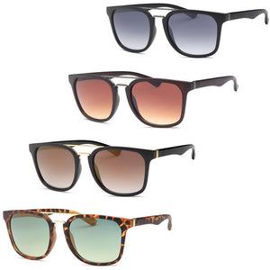 Modern Square Fashion Unisex Sunglasses 4-Pack
